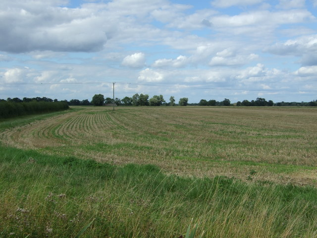 Stubble field off Cottenham Road