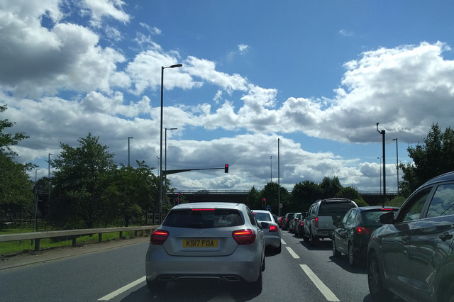 Last traffic lights before the M4, heading south on the A312