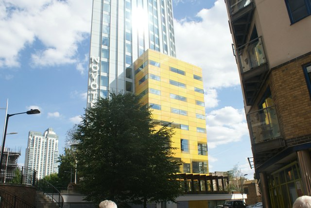View of Hotel Novotel Canary Wharf from Cuba Street #2