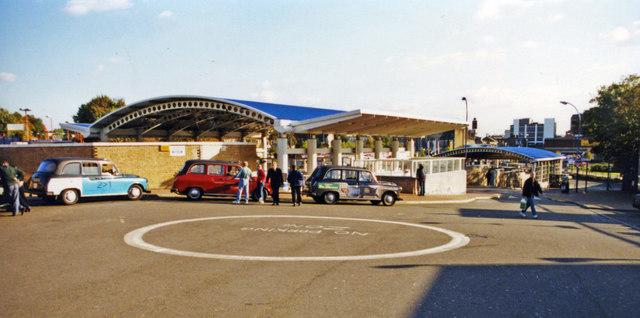 Lewisham terminus of new DLR branch, 2001