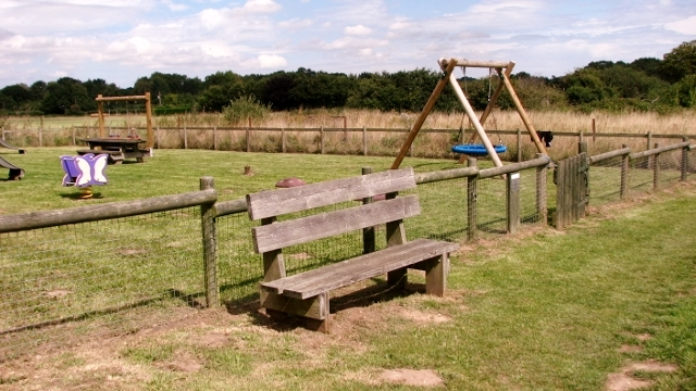 Seat by children's playground