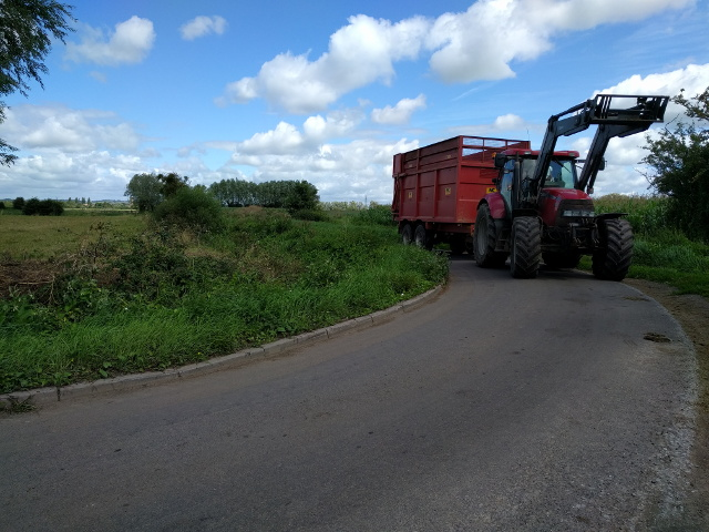 Farm vehicles to avoid when you're on a bicycle