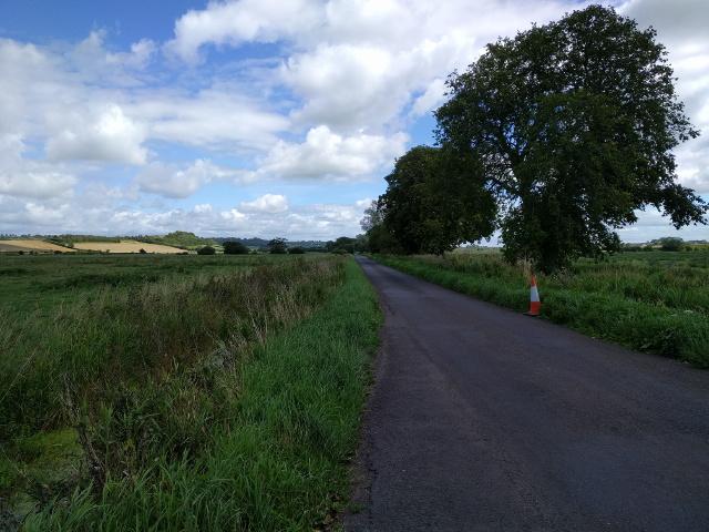 Lane across the flat landscape