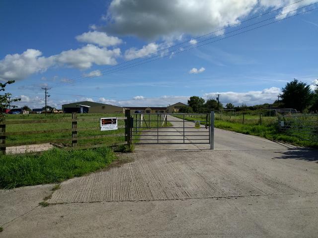Farm entrance, looking south