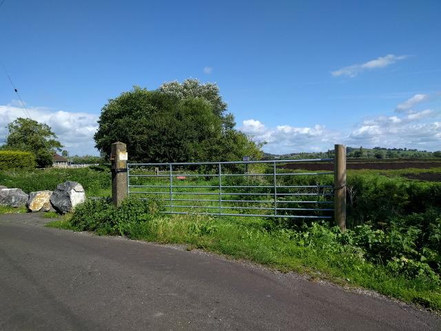 Route of old railway to Glastonbury