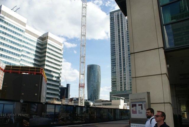 View of a new build in Cubitt Town from South Quay