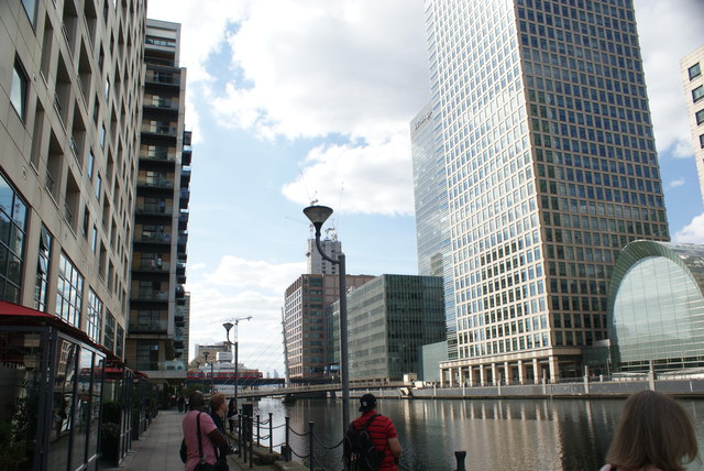 View of buildings in Canary Wharf from South Quay #5