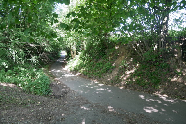 Lower section of Furnace Lane from bottom of climb