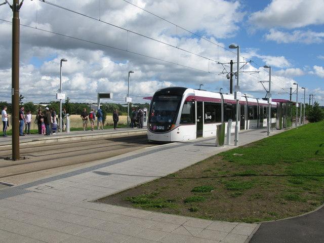 Ingliston Park & Ride Tram Stop on the Edinburgh Tram Route