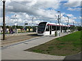 NT1572 : Ingliston Park & Ride Tram Stop on the Edinburgh Tram Route by G Laird