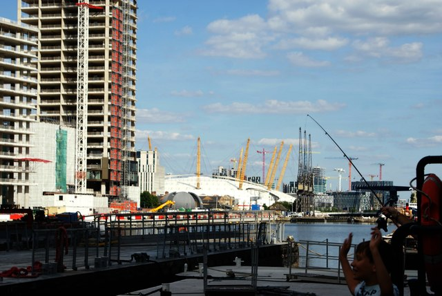 View of the O2 from South Dock #2