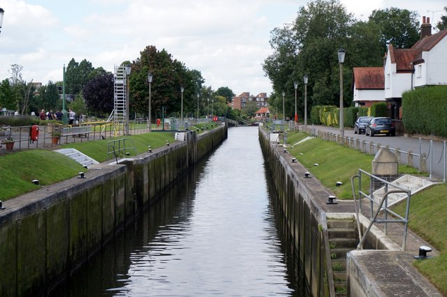One of the locks at Teddington Lock