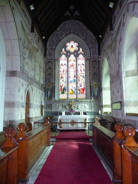 Chancel of Llandogo church