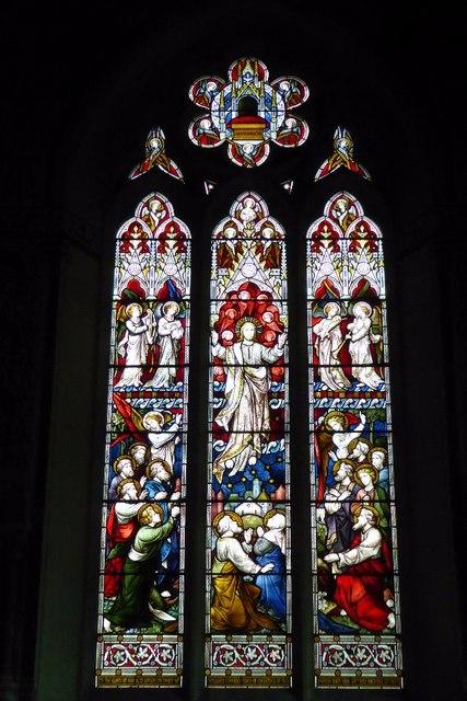 East window in St Oedoceus church, Llandogo