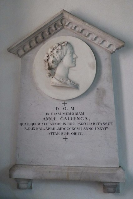 Memorial in Llandogo church