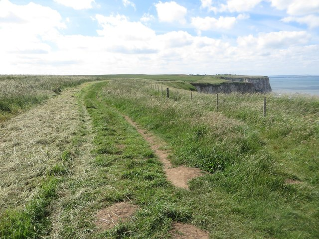 The coastal path above Wandale Nab