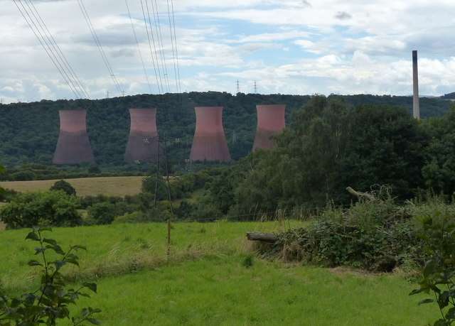 Cooling towers at Ironbridge Power Station