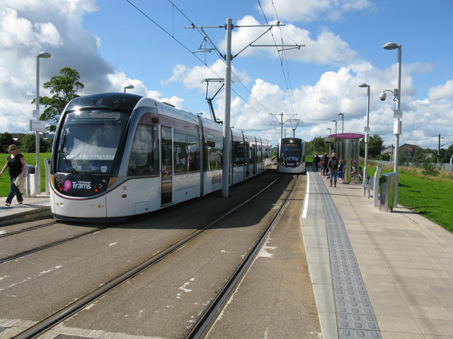 Saughton Tram Stop on the Edinburgh Tram Route
