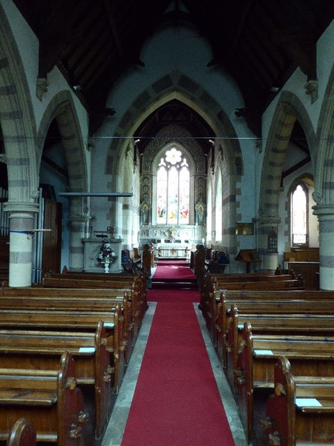 Interior of Llandogo church