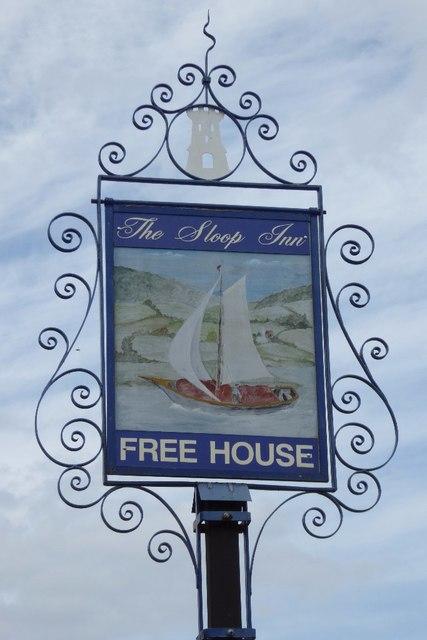 The Sloop Inn sign
