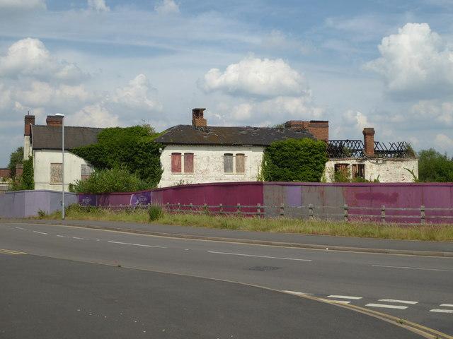 Former carpet factory - derelict building