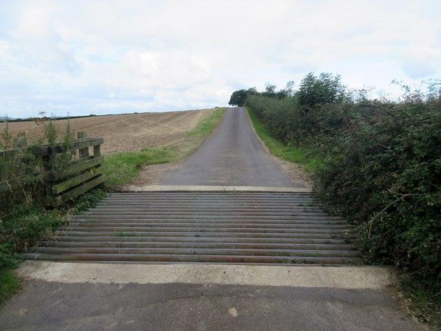 Estate road to Stagpark Farm