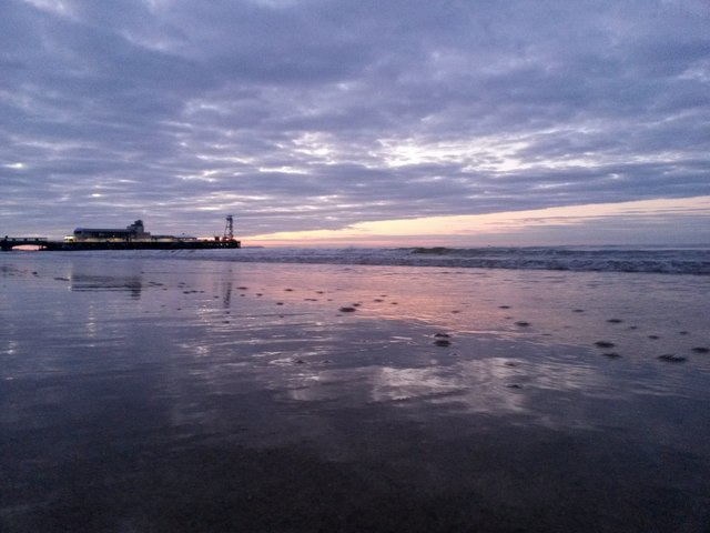 Bournemouth: reflection of a dawn sky