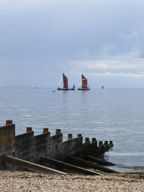 Sailing barges in Whitstable Bay