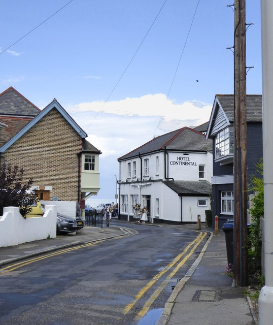 Beach Walk and the Hotel Continental, Whitstable
