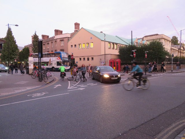 A busy road junction