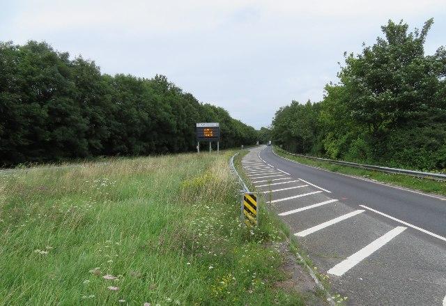 A30 entering Basingstoke