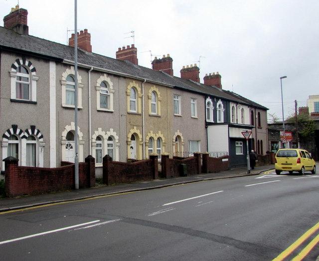 Western end of Church Road, Newport