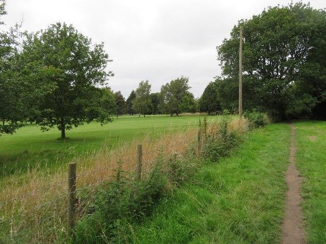 Path around Basingstoke Golf Club