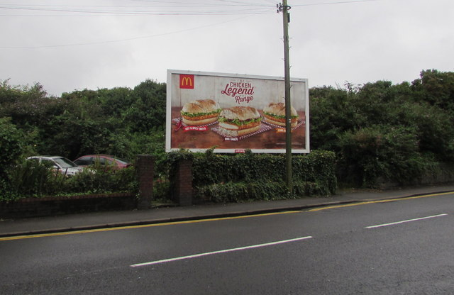 McDonald's advert, Caerleon Road, Newport