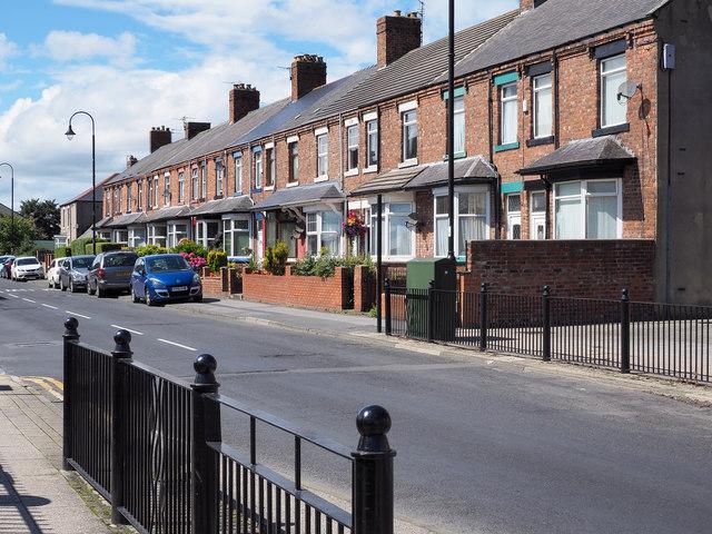 Terraced housing on Merrington Road