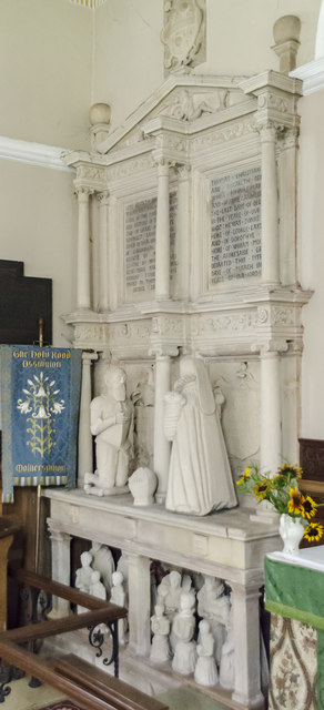 Cartwright memorial, Church of the Holy Rood, Ossington