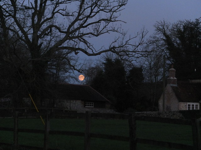 moonrise over Exton, Christmas Eve