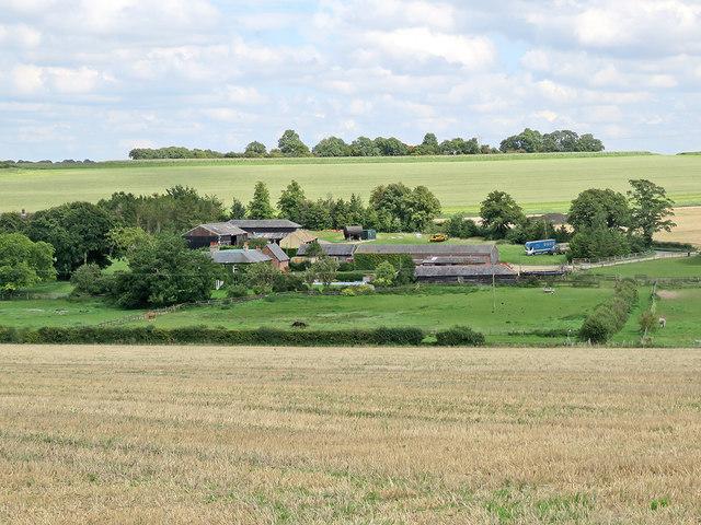 Towards Lark Hall Farm and Chilly Hill