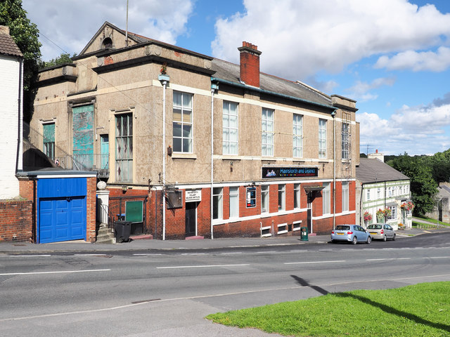 Buildings on north side of High Street, Ferryhill Station