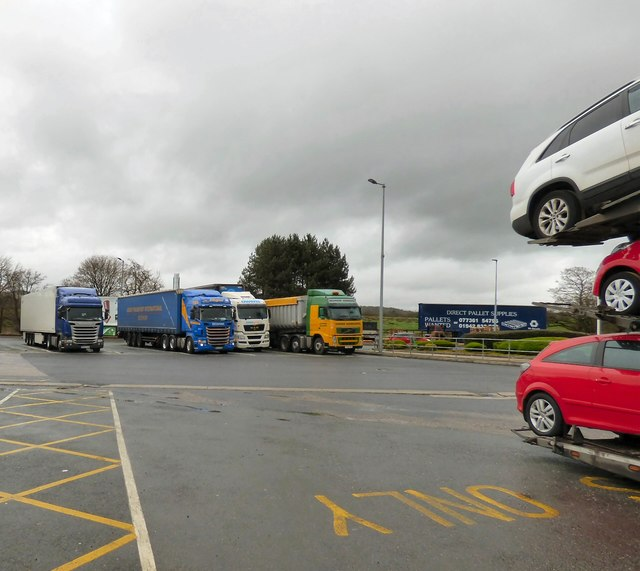 Lorries at Lancaster Services