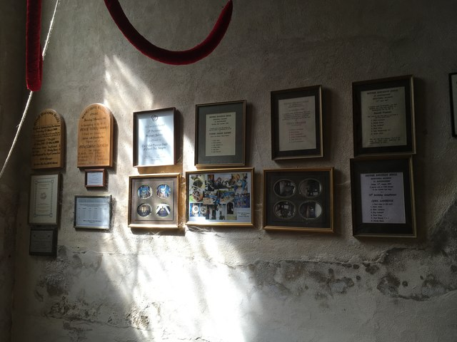 Plaques in the belltower