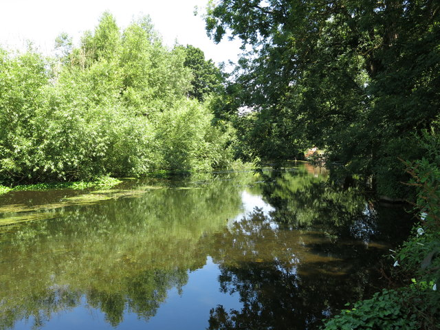 The River Colne west of Longbridge Way