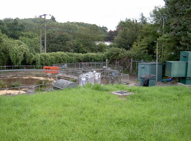 Sewage treatment works by Blagdon lake
