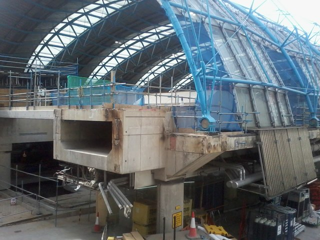 Concrete beam of Waterloo Station