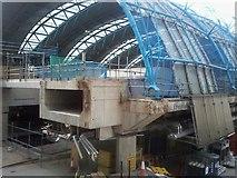 TQ3179 : Concrete beam of Waterloo Station by David Anstiss