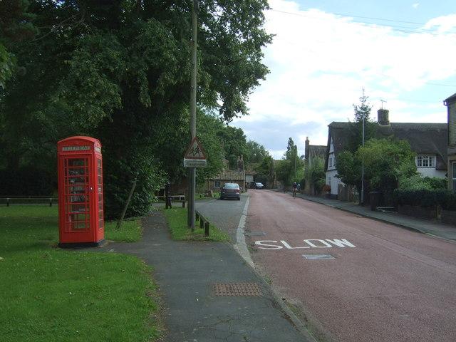 Telephone box on High Street, Horningsea
