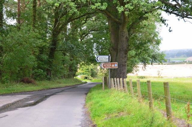 Road junction for Towerburn
