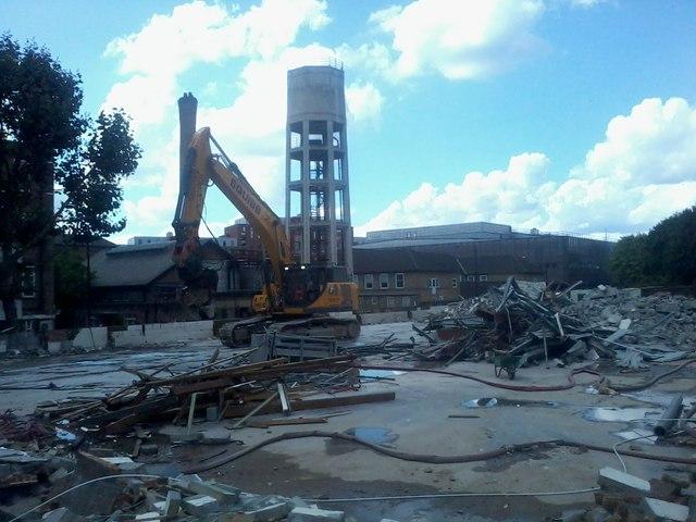Demolition site on Camley Street