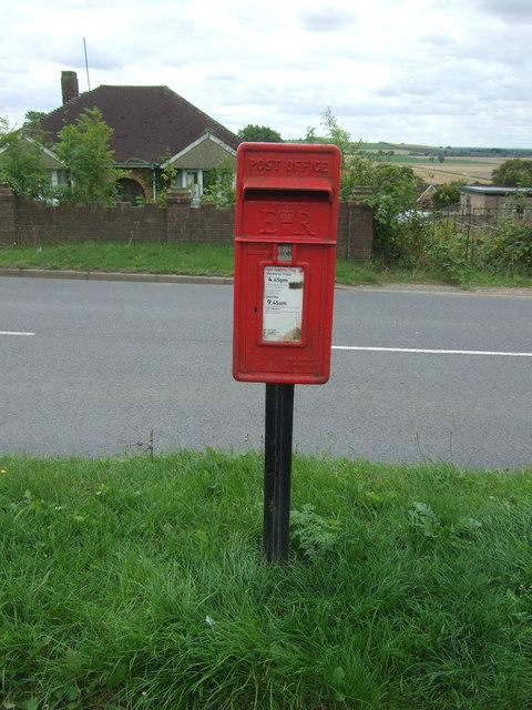 Elizabeth II postbox on High Street, Sutton