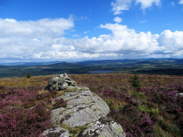 Cairn near the summit of Airie Hill